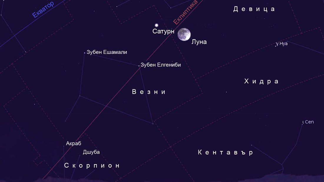 Първото лунно затъмнение за тази година е на 25/26 април, може да се види и Сатурн