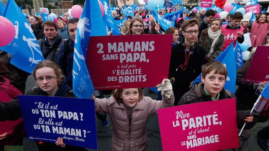 Над 150 хиляди протестестират в Париж срещу еднополовите бракове