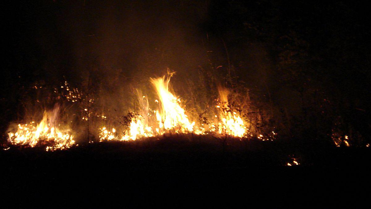 Военни гасят пожар в Хасковско