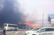 Голям пожар край Слънчев бряг, задимен е пътят Бургас-Варна