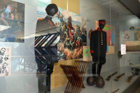 Интерактивен кът с реплика на опълченски униформи в РИМ-Стара Загора
