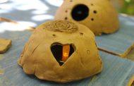 Детска работилничка за изработване на фигури от естествени материали в с. Хрищени