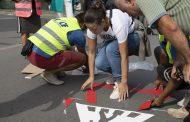 Нов тип пътна маркировка полагат на кръстовища в Стара Загора