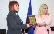 Областният управител Гергана Микова бе отличена с Почетен плакет от КЗД
